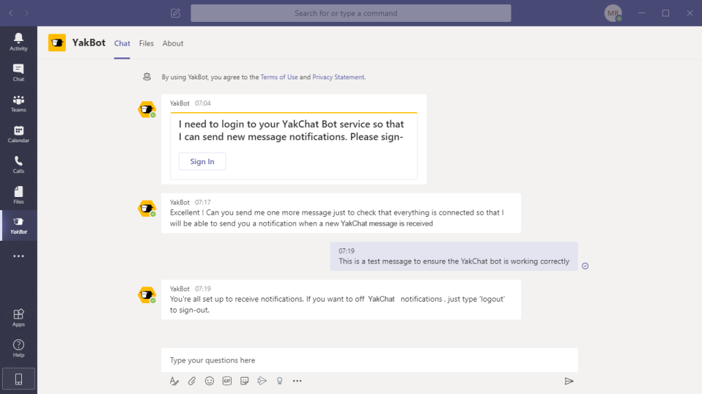 Get new text notifications in Microsoft Teams