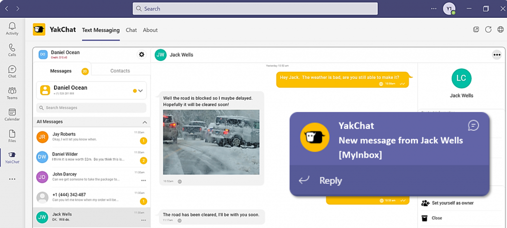 YakChat SMS Mobile App Icon